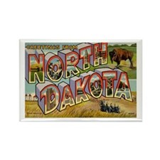 Greetings from North Dakota Rectangle Magnet