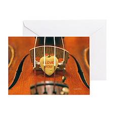 I Love You Heart & Violin Greeting Card