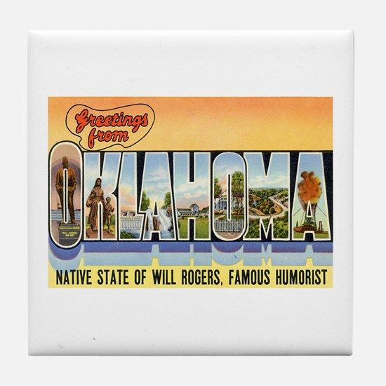 Greetings from Oklahoma Tile Coaster