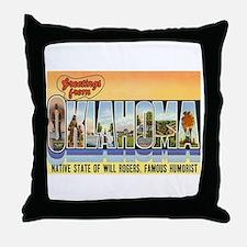 Greetings from Oklahoma Throw Pillow