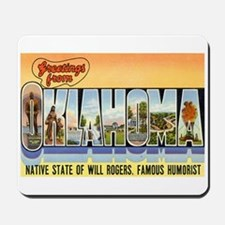 Greetings from Oklahoma Mousepad