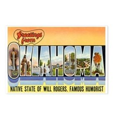 Greetings from Oklahoma Postcards (Package of 8)