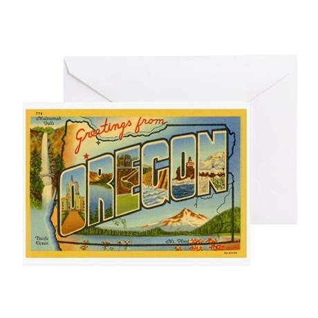 Greetings from Oregon Greeting Card