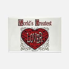 World's Best Lover Rectangle Magnet
