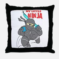 My Little Ninja Throw Pillow