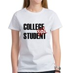 Off Duty College Student Women's T-Shirt