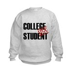 Off Duty College Student Kids Sweatshirt