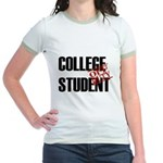 Off Duty College Student Jr. Ringer T-Shirt