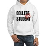 Off Duty College Student Hooded Sweatshirt