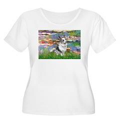 Lilies (#2) - Corgi (Bl.M) T-Shirt