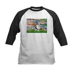 Lilies (#2) - Corgi (Bl.M) Kids Baseball Jersey