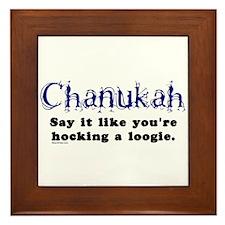 Chanukah Hocking A Loogie Framed Tile