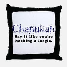 Chanukah Hocking A Loogie Throw Pillow