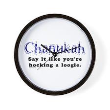 Chanukah Hocking A Loogie Wall Clock