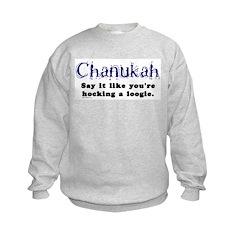 Chanukah Hocking A Loogie Sweatshirt