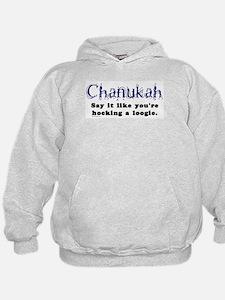 Chanukah Hocking A Loogie Hoodie