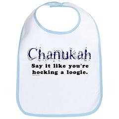 Chanukah Hocking A Loogie Bib