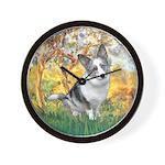 Spring - Corgi (Bl.M) Wall Clock