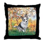 Spring - Corgi (Bl.M) Throw Pillow