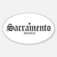 Sacramento Oval Decal