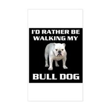 BULL DOG Rectangle Decal
