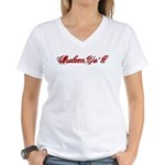 Shalom Ya'll Women's V-Neck T-Shirt
