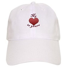 "My ""heart"" is yours Baseball Cap"