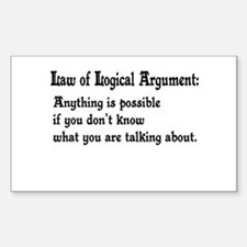 Law of Logical Argument Rectangle Decal