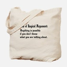 Law of Logical Argument Tote Bag