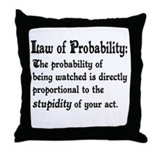 Law of Probability Throw Pillow