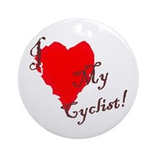 Love my cyclist Ornament (Round)