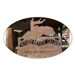 Mangy Moose Oval Sticker
