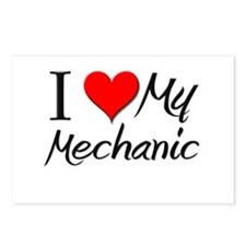I Heart My Mechanic Postcards (Package of 8)