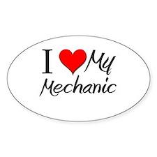 I Heart My Mechanic Oval Decal