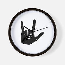 I love you hand Wall Clock