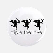 """Triplet Cupids 3.5"""" Button"""