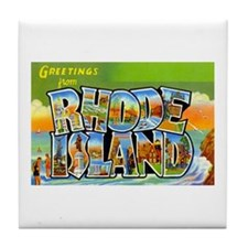 Greetings from Rhode Island Tile Coaster