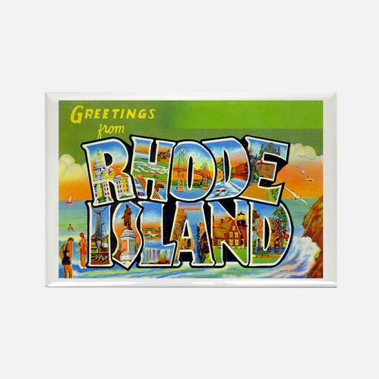 Greetings from Rhode Island Rectangle Magnet