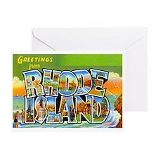 Greetings from Rhode Island Greeting Card