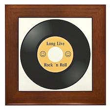 Long Live Rock 'n Roll Framed Tile