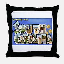 Greetings from South Carolina Throw Pillow