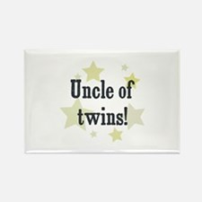 Uncle of twins! Rectangle Magnet