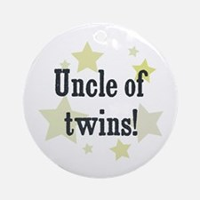Uncle of twins! Ornament (Round)