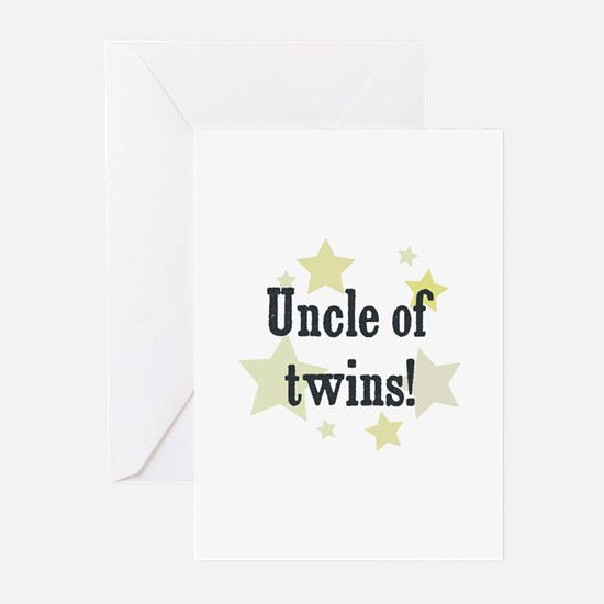 Uncle of twins! Greeting Cards (Pk of 10)