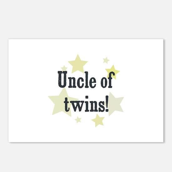 Uncle of twins! Postcards (Package of 8)