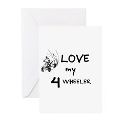 LOVE MY 4 WHEELER Greeting Cards (Pk of 10)