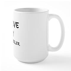 LOVE MY 4 WHEELER Large Mug