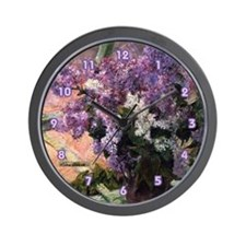 Lilacs by Mary Cassat Lovely Shabby Chic Clock
