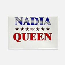 NADIA for queen Rectangle Magnet