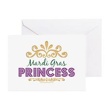 Mardi Gras Princess Greeting Cards (Pk of 10)